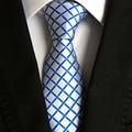 Nueva Llegada de Rayas A Cuadros y Corbatas de Los Hombres de Marca Trajes de Boda Corbatas Corbatas de Poliéster Formal de Negocios Corbata Cravate regalos