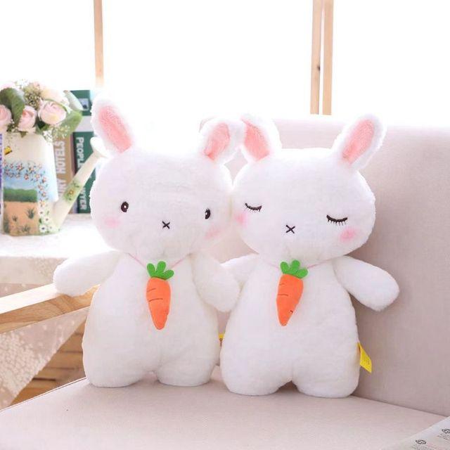 5c3da88982c Nooer Kawaii Cute Rabbit Plush Doll Kids Toy Stuffed White Rabbit With  Carrot Plush Toy Birthday