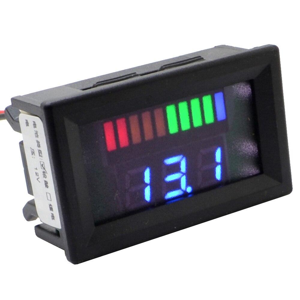 12V Digital LED Acid Lead Batteries Indicator Battery Capacity Tester Voltmeter