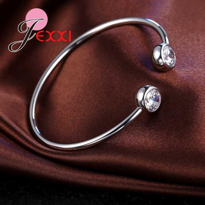 シンプルなデザインの女性/ガールズファッションブレスレット腕輪 925 スターリングシルバーアクセサリーaaa + キュービックジルコンクリスタルcz