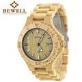 Bewell madera reloj hombre reloj para hombre fecha de cuarzo analógico Mens Relojes de Primeras Marcas de Lujo De Madera Reloj Mujer Del Relogio masculino 023B