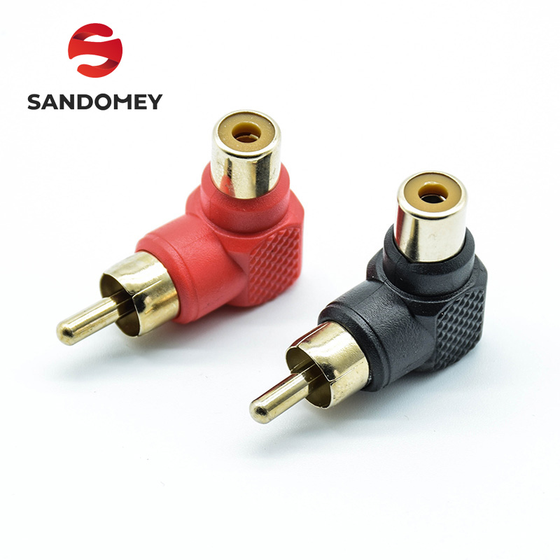 2pcs-90-degree-rca-right-angle-connector-plug-adapters-male-to-female-m-f-90-degree-elbow-audio-adapter