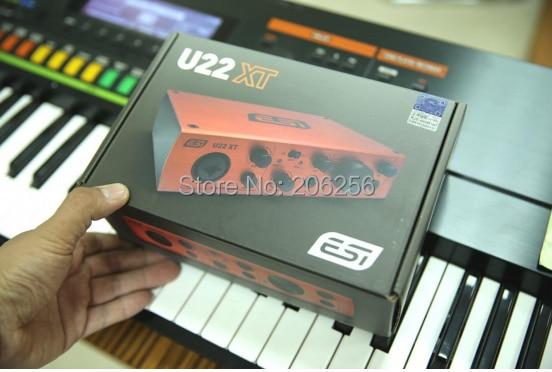 2017 novo esi u22xt usb interface de áudio portátil usb