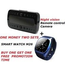 Wasserdichte Smartwatch M26 Smart Uhr Mit LED Alitmeter Schrittzähler Für IOS Android + Buy One Get One Kostenlos Nachtsicht kamera
