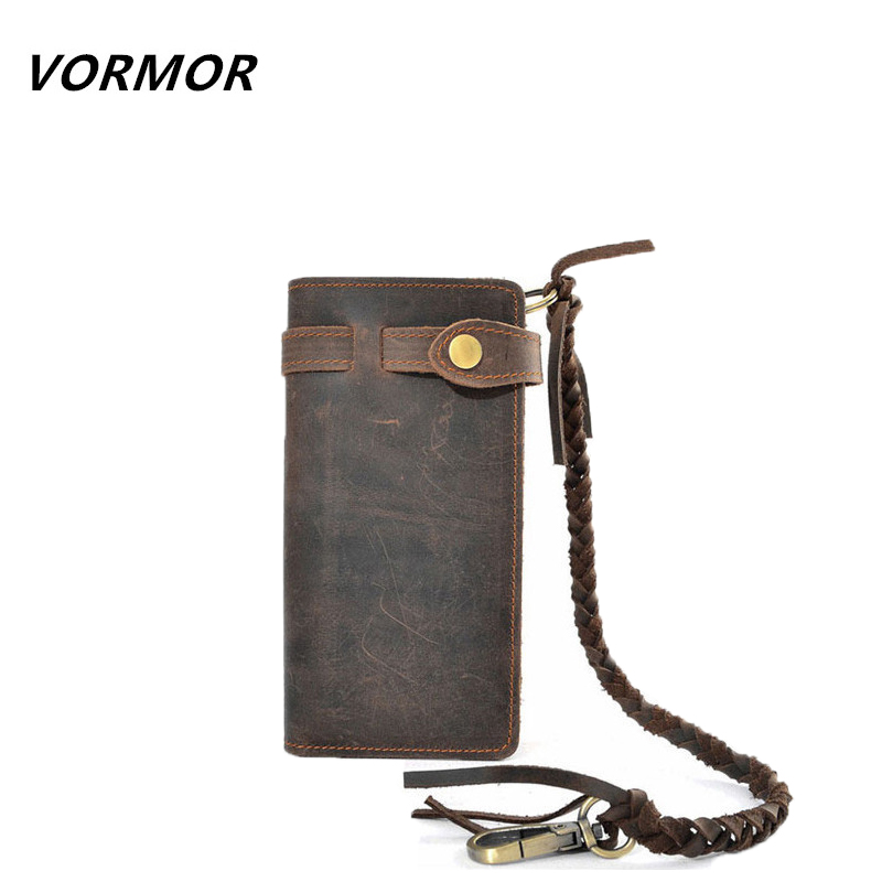 Men Wallets 2017 Vintage 100% Genuine Leather Wallet Cowhide Clutch Bag Men's Card Holder Purse With Coin Pocket