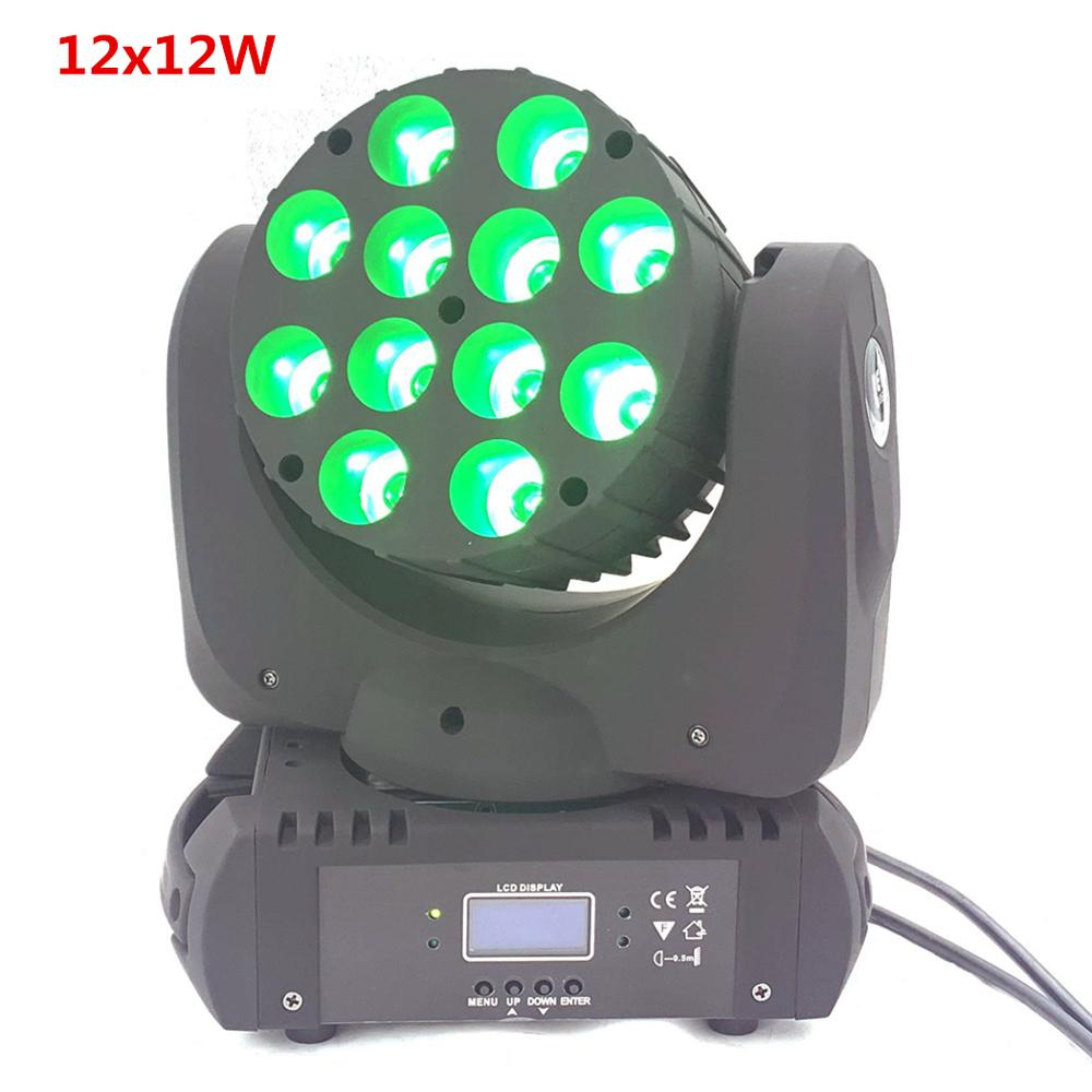LED Moving Head 12x12w Rgbw 4in1 Color Advanced 9/16 Dmx Channels  Dj Disco Parties Show Lights Led Moving Head Wash Beam Lig