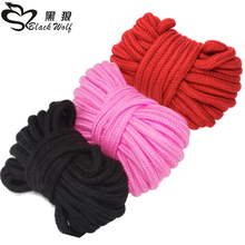 5m/10 m cotton female adult sex products sex slaves BDSM games binding rope body