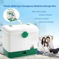Пластик медицина коробка Аптечка коробка многослойная реанимация хранение здравоохранения Pill держатель дело
