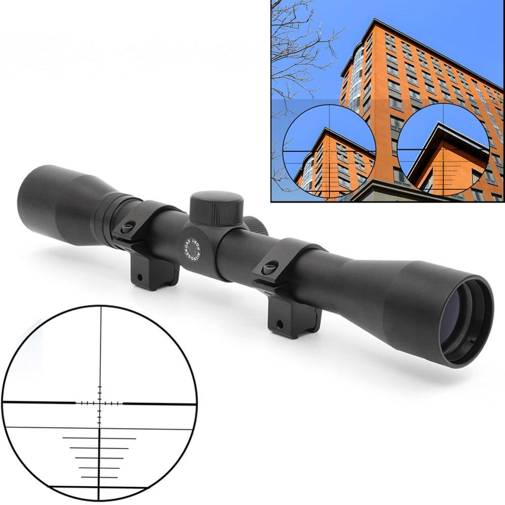 New 4x32 Tactical Telescope Air Rifle Optics Sniper Scope Sight Hunting Rail Mount 11mm