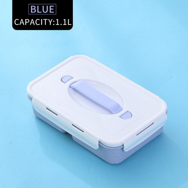 Blue Cheap bento boxes silicone collapsible 5c6479e2ed796