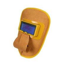 Сварочная маска с автоматическим затемнением, шлем из воловьей кожи для сварки с питанием от солнечной батареи