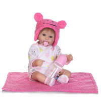 New 16 Inch 40cm Silicone Reborn Baby Doll Kids Playmates Gift For Girls Baby Alive Soft