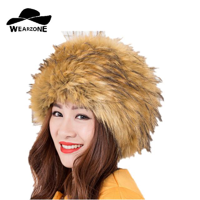De las mujeres sombreros de invierno gorras mujer cap piel de visón imitación de piel de visón Gorros de punto Sombrero de la Piña Tienen Orejas Sombrero De Piel Sintética Para Las Mujeres