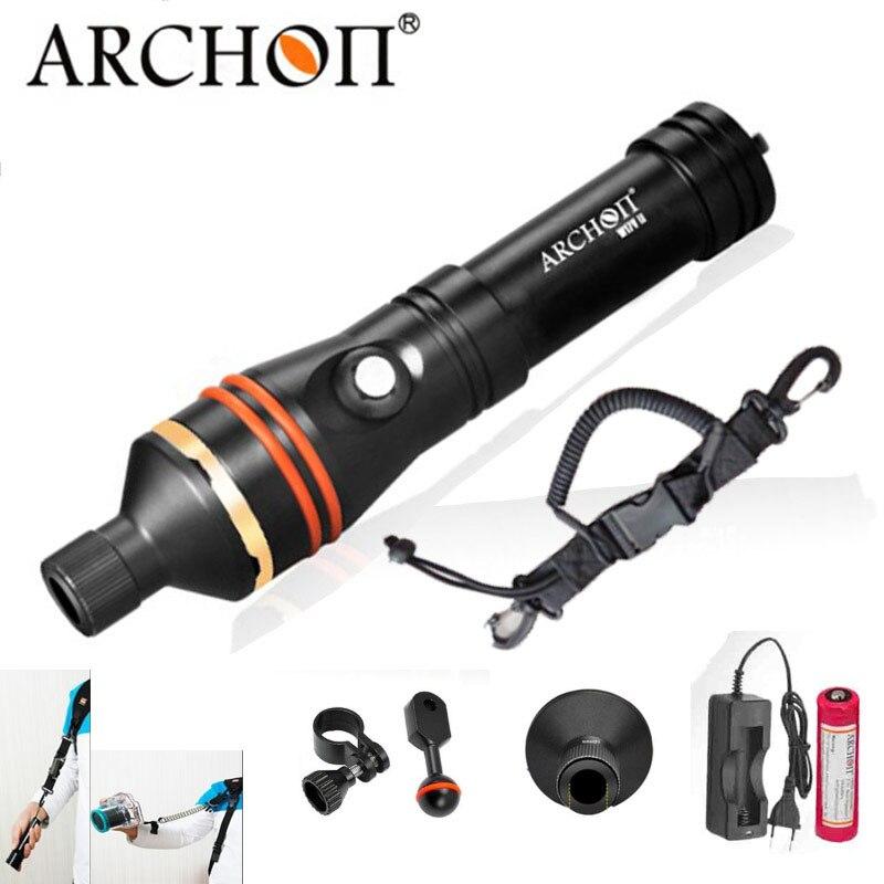ARCHON D11V II D11V w17v ii w17v Diving Flashlight Underwater Spot Light Tauchlampe XM L2 U2 Photography Video Lamp Torch 18650