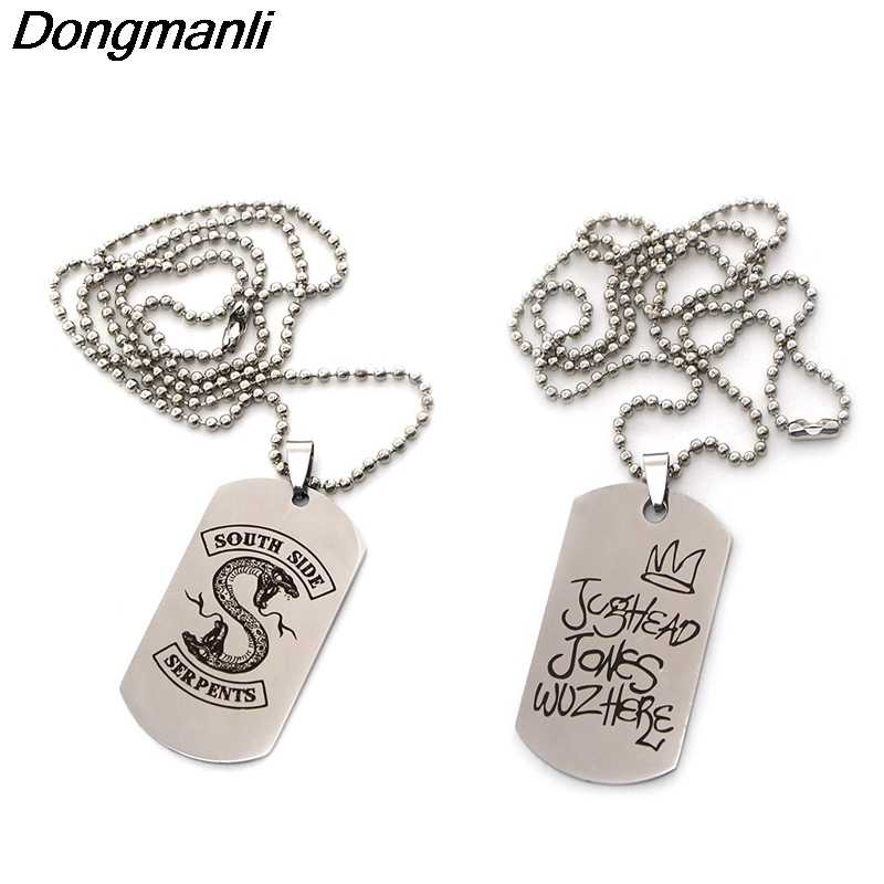 M1787 DMLSKY RIVERDALE Creative Punk Necklaces Pendant Stainless steel necklace cool Punk jewelry for Men gifts