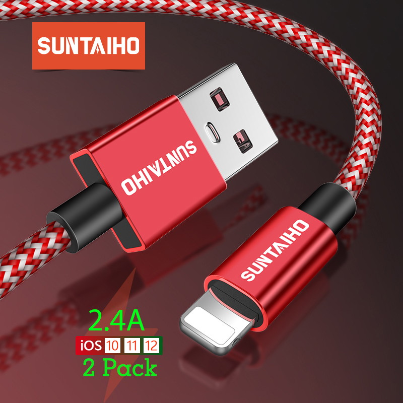 suntaiho 2.4a usb type a cable and lighting fast charger for charging iphone and smartphones