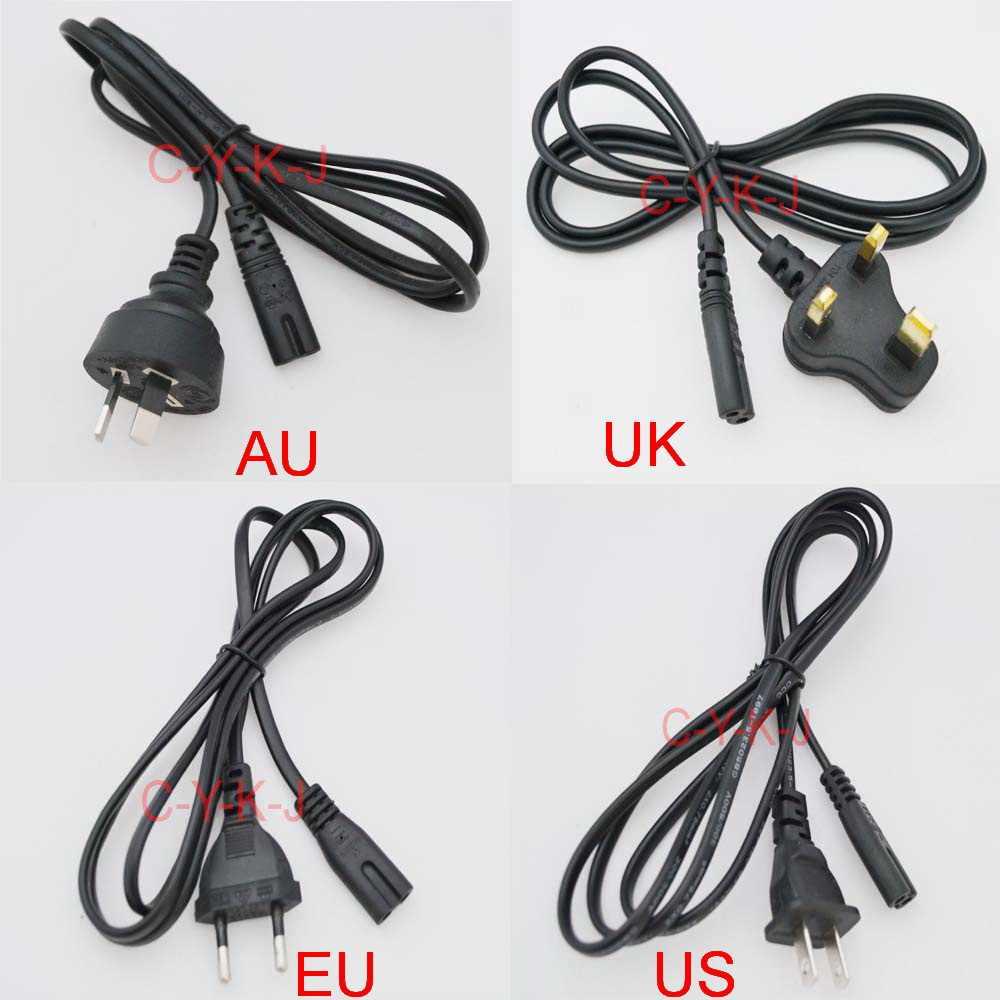1 sztuk wysokiej jakości 2 Prong usa, ue, wielkiej brytanii, AU podłącz kabel zasilający kabel adapter do ładowarki PC Laptop