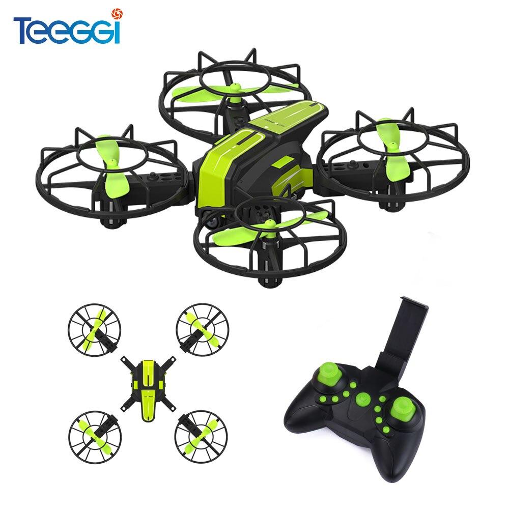Teeggi X1 bricolage Mini drone rc Avec Caméra HD WiFi FPV quadcopter rc Hélicoptères Sans Tête Mode VS S9 T10 e58 x20 Micro poche Dron