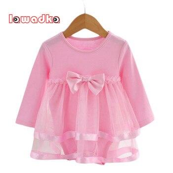 Verão arco algodão new born baby dress moda macacão de bebê para meninas miúdos verão roupas infantis do bebê meninas macacão