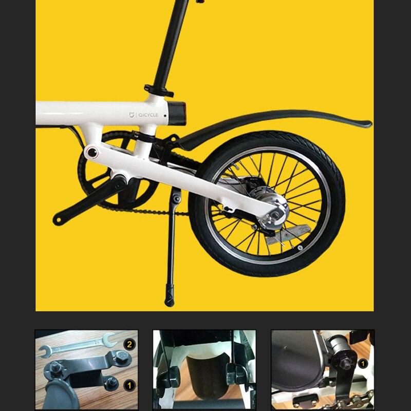 wivarra para Qicycle EF1 Guardabarros de Bicicleta el/éctrica y Soporte de Guardabarros para salpicadero de neum/áticos