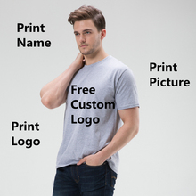 цена на Factory Price! Free Custom LOGO Design Cheap T Shirt for Men DIY Your like Photo or Logo Casual T-shirt tops clothes Tee