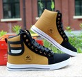 2016 spring Fashion Men High Top Shoes Mans Footwear Casual Round Toe Flat Shoes Lace Up Men Shoes