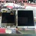Teste ok100 % original! para meizu pro6 mx6 pro branco, preto tela lcd + digitador touch com quadro frete grátis