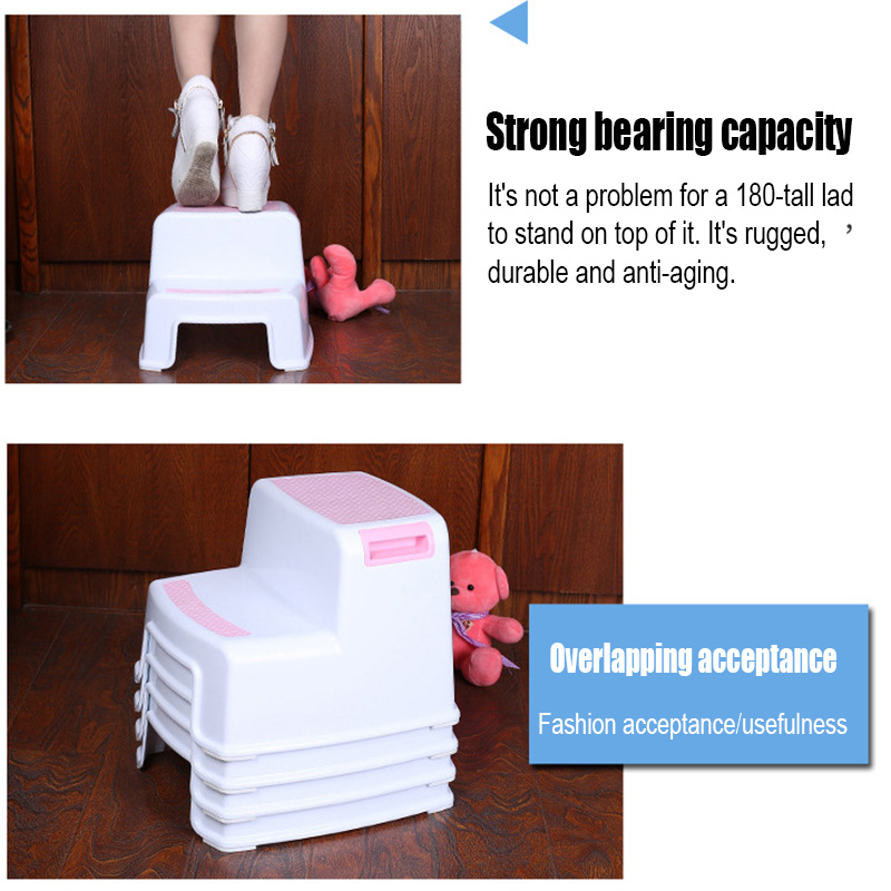 2 Step Stool Toddler Kids Stool Toilet Potty Training Slip Resistant for Bathroom Kitchen PAK55 Children Stools     - title=