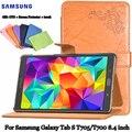 Para Samsung Caso T700 T705 PU Galaxy Tab S estojo de Couro De proteção Shell Proteção/Pele 8.4 polegada Tablet PC de protecção pacote