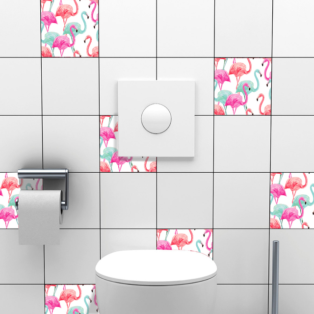 10 Pcsset Self Adhesive Tile Stickers Art Decals Removable Wall - Self-adhesive-backsplash-set