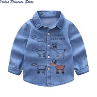 Baby Boys Denim Shirts Kids Long Sleeve Blouse Kids Spring Autumn Fashion Shirts Casual Shirt Child New