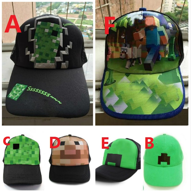 Cap Sun-Hats Baseball Minecraft Kids Children's Summer Games Printed Breathable Cartoon