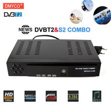 DVB-T2 dvb-S2 Digital Terrestrial Satellite TV Receiver Combo HD 1080P H.264/ MPEG-2/4 Decoder Support Bisskey for Europe Russia