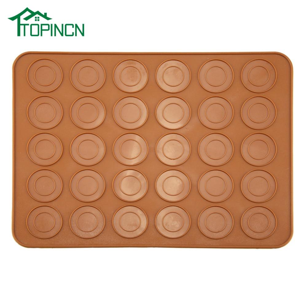 TOPINCN 30 Holes Round Shape Macarons Baking Mat Silicone Macaron Sheet Pad Pastry Kitchen Cake Baking Tool|Baking Mats & Liners|   - AliExpress