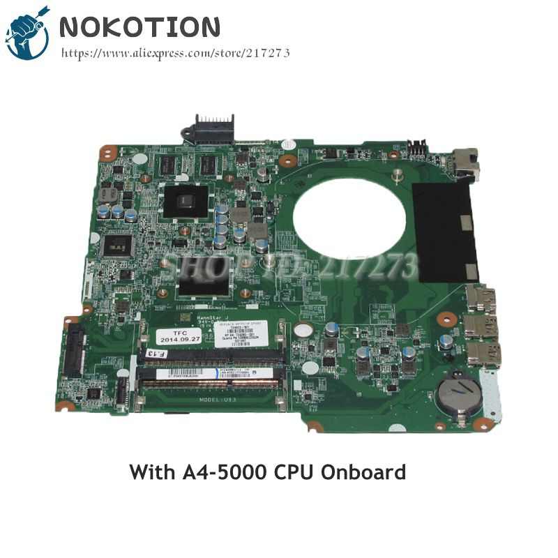NOKOTION DA0U93MB6D2 734820-501 734820-001 735285-501 Laptop Motherboard For HP Pavilion 15-N MAIN BOARD A4-5000 CPU HD8670M good photos 26g 20
