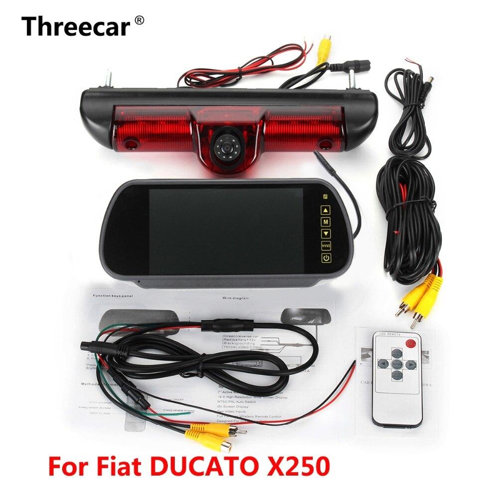 Voiture feux de freinage Arrière vue caméra pour Citroen JUMPER III/Fiat DUCATO X250/Peugeot BOXER III avec Intégré 6 pièces IR lumière led