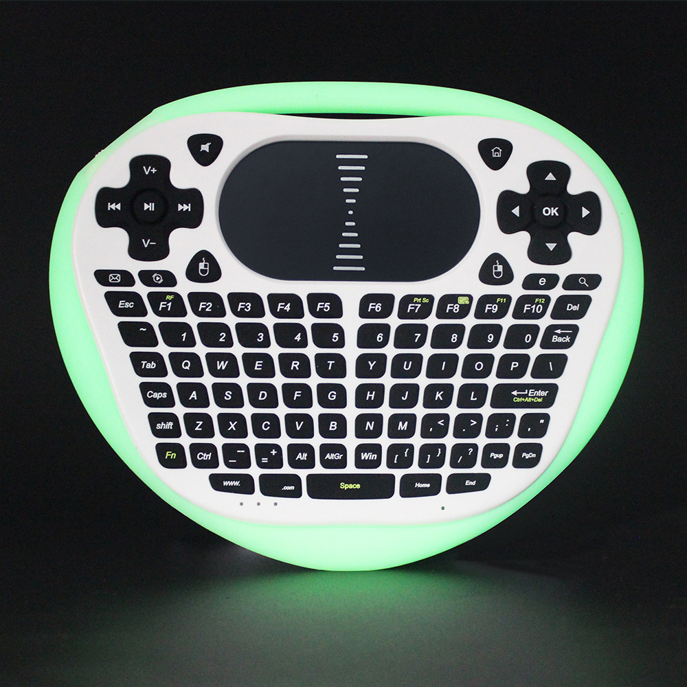 Sungi T8 wireless mini touchpad keyboard Edge lighting with Lithium battery English For Android TV Box <font><b>Notebook</b></font> Tablet Desktop