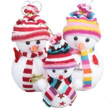 Christmas Snowman Doll Santa Claus Supplies Cute Tree Decorations 2 pieces/pack one large + small