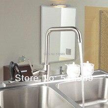 92325 Строительство и Недвижимость Никель Матовый Поворотный Излив Кухня и Ванная Комната Смеситель Кран