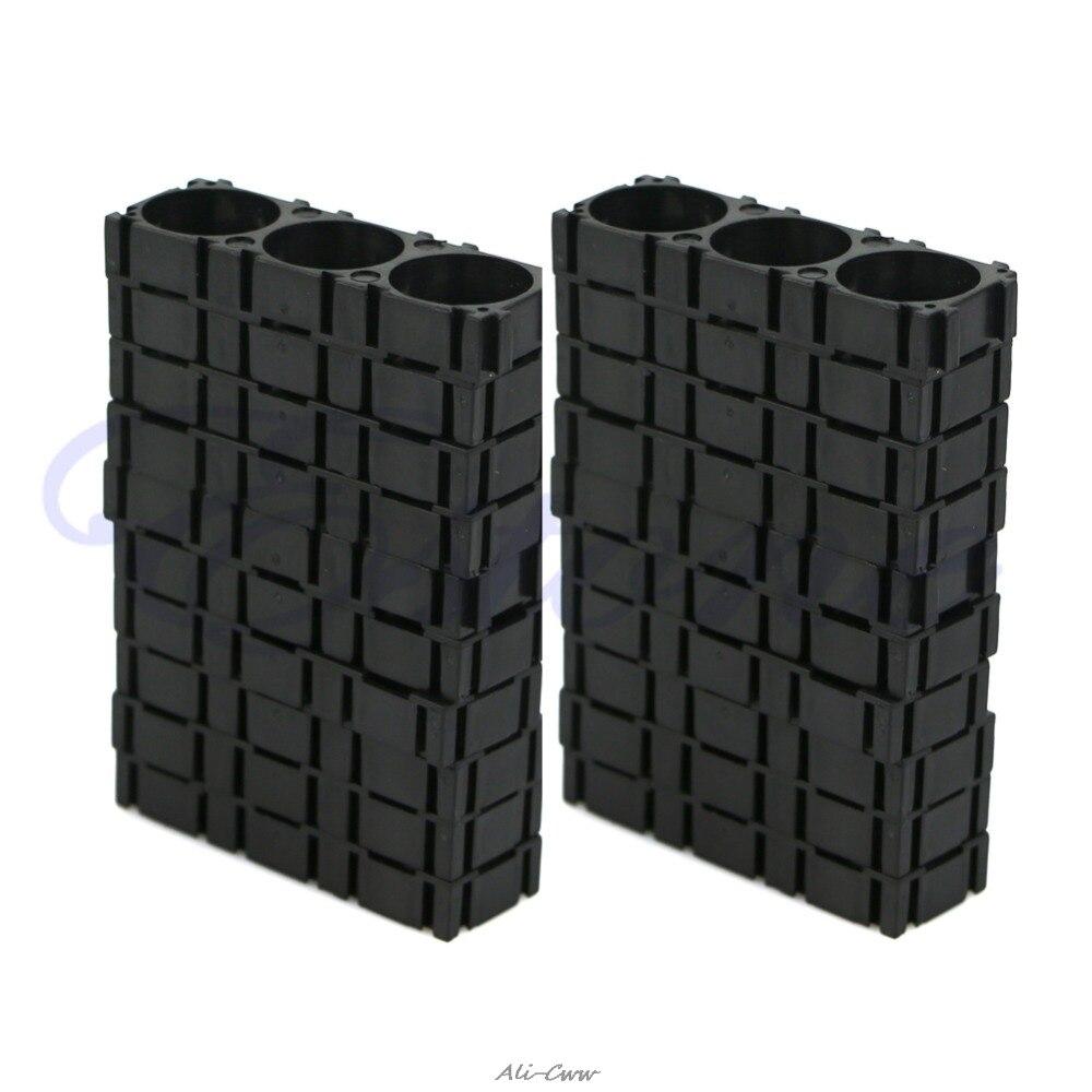 1 Set Zwart 20 Pcs 3x18650 Batterij Spacer Uitstralende Houder Beugel Elektrische Auto Fiets Speelgoed Nieuwe Kortingen Prijs