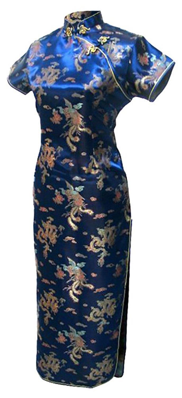 shanghai geschichte mandarin kragen qipao chinesischen kleid phoenix  drachen muster cheongsam traditionelle kleidung orientalischen kleid