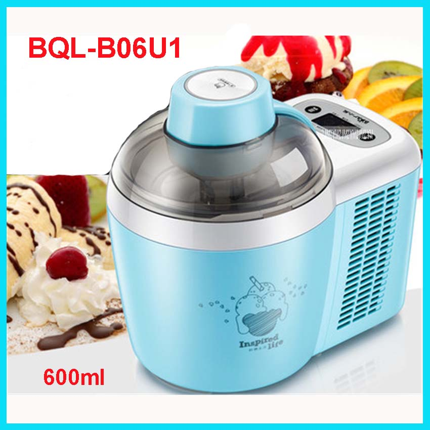 BQL-B06U1 220V /50 Hz Family Fully Automatic Ice Cream Machine Self Made Fruit Ice Cream Machine 600ml 90W Ice Cream Makers mt 250 italiano pasta maker mold ice cream makers 220v 110v 250ml capacity ice cream makers fancy ice cream embossing machine