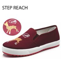 STEPREACH Brand Shoes Woman Flats Women Chaussures Femme Sapato Feminino Platform Canvas Spring Autumn Unicorn Elk