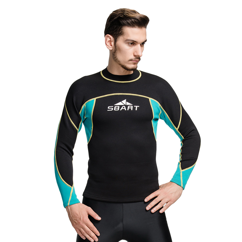 SBART 2018 surf piscina de los hombres trajes de neopreno 2 MM traje de  camisa de manga larga superior buceo lycra traje de baño en Trajes de  cuerpo de ... 3371457c0f1