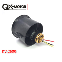 QX-Motor 70mm Electronic Ducted Fan 12 Blades EDF With 2827 KV2600 Brushless Motor For RC Drone Model Parts Wholesale