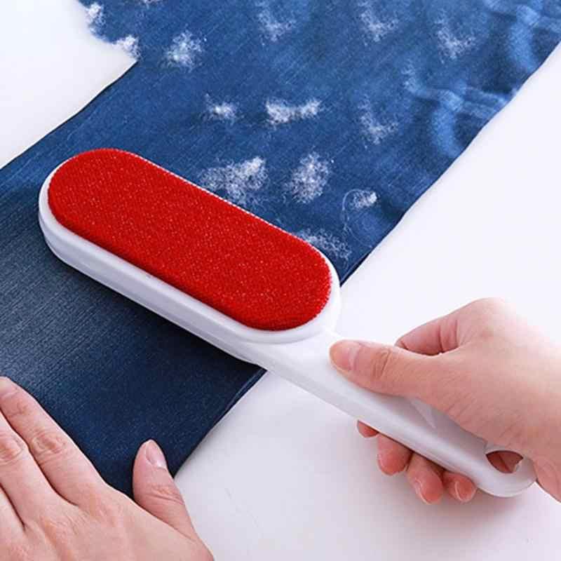 Brosse de nettoyage de fourrure d'animal de compagnie d'abs balayage mousse canapé tapis chien chat épilateur facile nettoyant brosse de nettoyage réutilisable