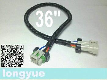 """Longyue venda da fábrica 20 pçs ls1 ls2 ls3 ls6 camaro corvette bobina de ignição recolocação arnês extensão 36 """"90 cm fio"""