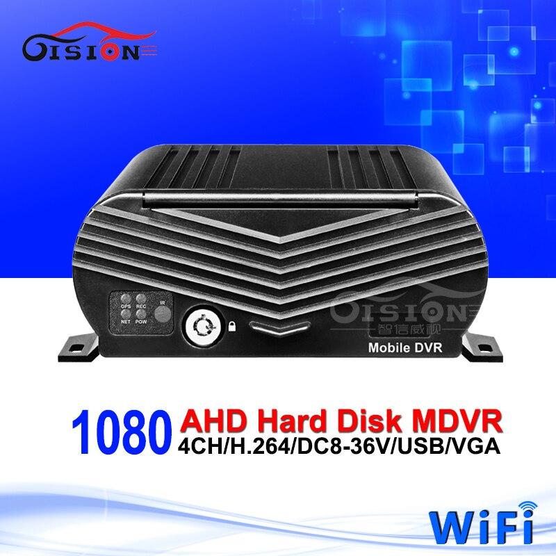 Factory Price Wifi 4CH AHD Mobile Dvr Recorder Hard Disk 1080P HD Car Blackbox Dvr Platform /CMSV6 Free Online Video Mdvr недорого