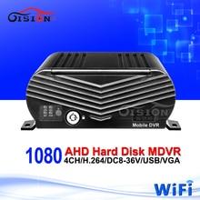 Factory Price Wifi 4CH AHD Mobile Dvr Recorder Hard Disk 720P HD Car Blackbox Dvr Platform /CMSV6 Free Online Video Mdvr