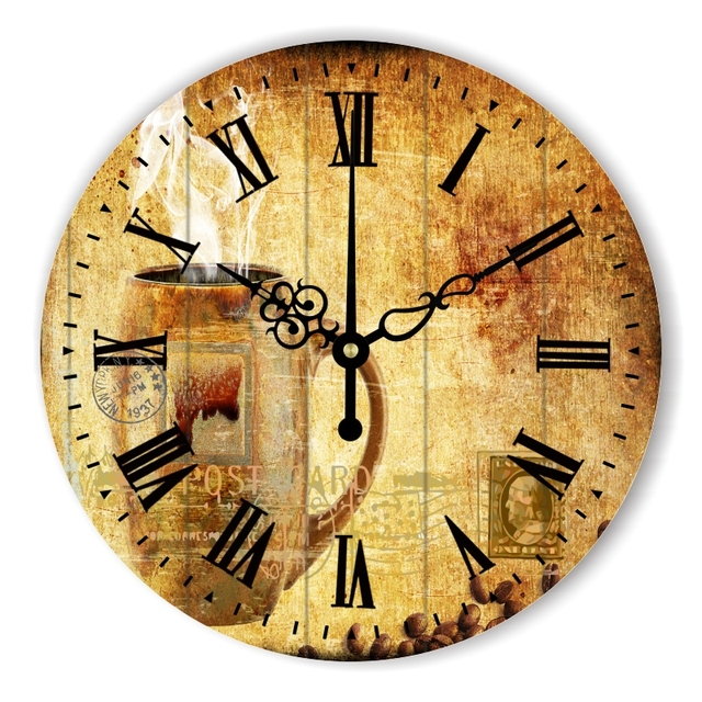 Vintage Large Decorative Wall Clock With Absolutely Silent Clock Movement  For Bedroom Wall Decoration Home Decoration